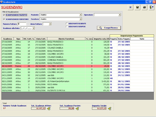 Odontoprogram software odontoiatrico e cefalometrico - Scadenze di pagamento ...